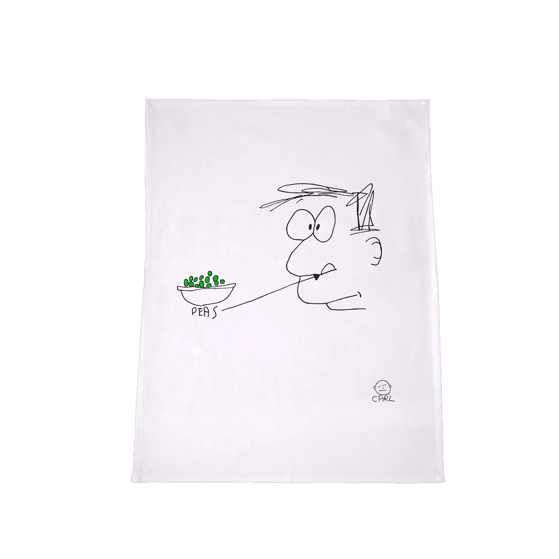 Carl Barron - Peas Tea towel
